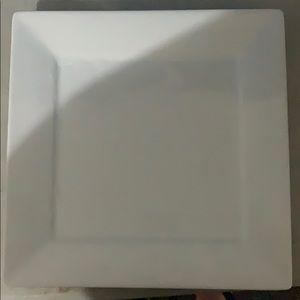 2 Porcelain glass square plates